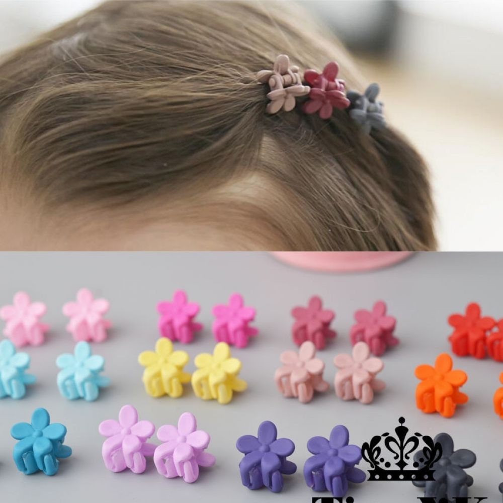 10 Pcs New Fashion Baby Girls Small Hair Claw Cute Candy Color Flower Hair Jaw Clip Children Hairpin Hair Accessories Wholesale Hair Accessories Set Wholesale Hair Accessories Hair Claw