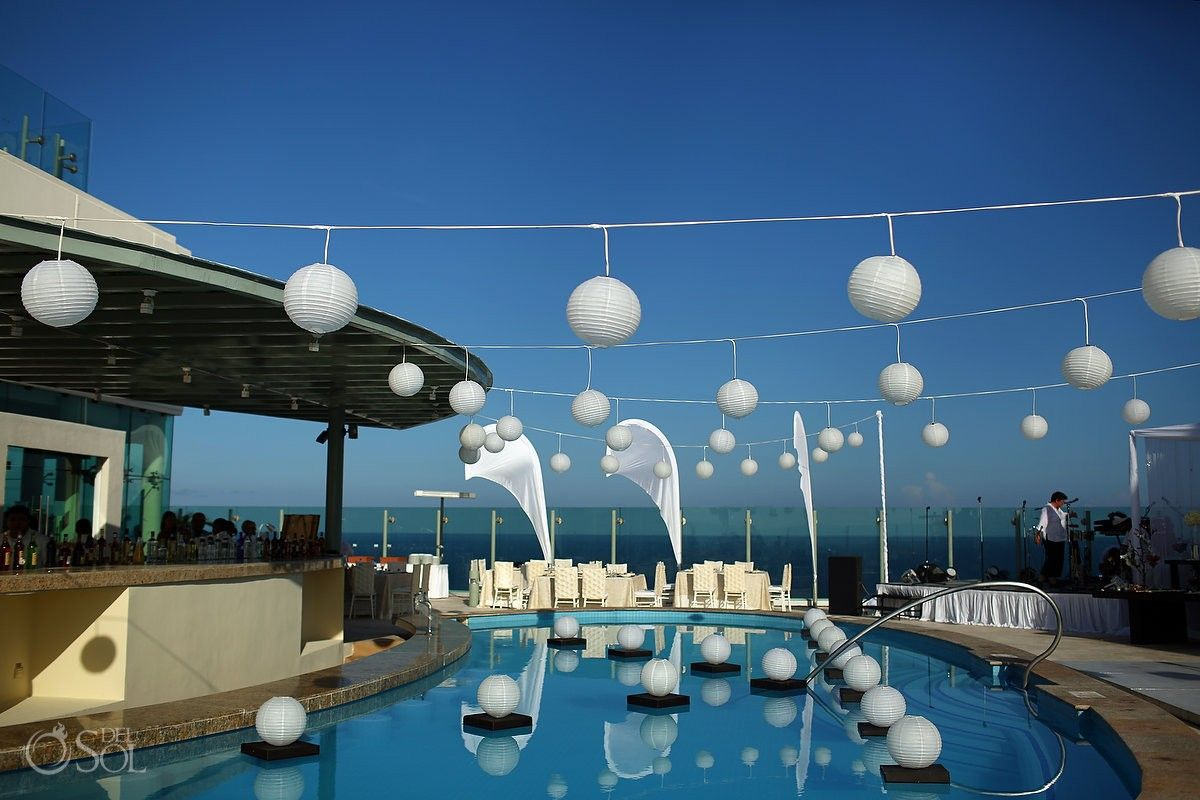 Cancun Wedding At Beach Palace The Rooftop Terrace Is Divine For A Reception Mexico Photographers Del Sol Photography