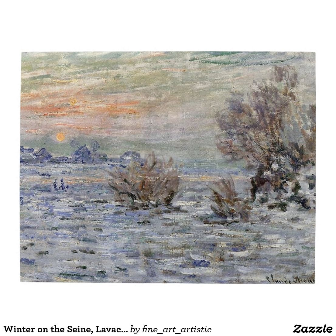 Winter On The Seine Lavacourt Monet Fine Art Jigsaw Puzzle Zazzle Com Art Fine Art Monet