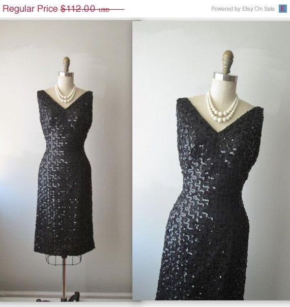 STOREWIDE SALE 50's Sequin Dress // Vintage by TheVintageStudio, $89.60