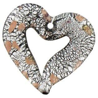Bead Treasures Black Glass Open Heart Pendant | Shop Hobby Lobby