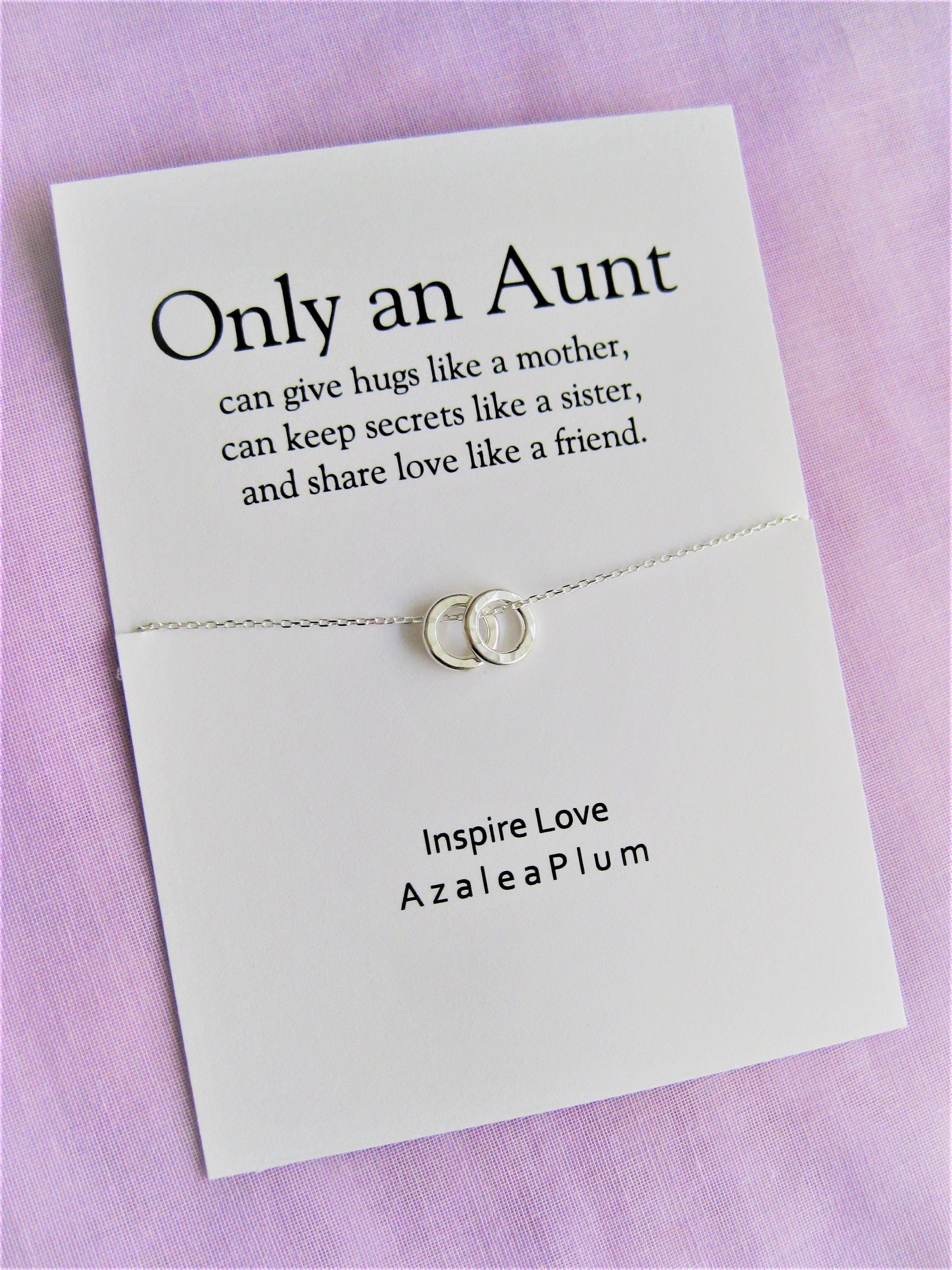 Aunt necklace gift aunt auntie gifts aunt necklace