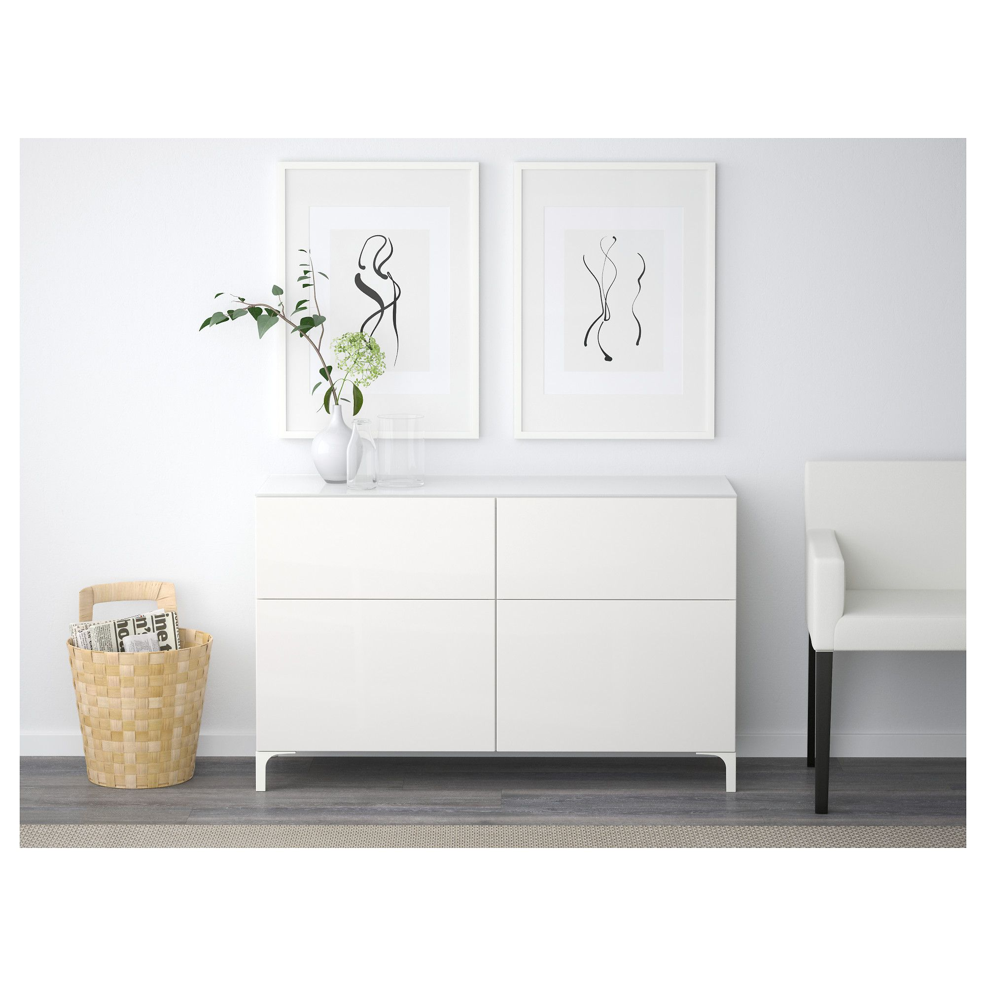 Ikea best mobili con cassetti guida cassetto chiusura silenziosa bianco selsviken lucido - Decorazioni muro ikea ...