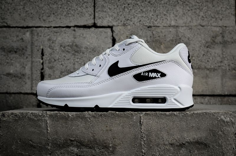 sale retailer c98f3 16e99 2018 Authentic Nike Air Max 90 Essential White Black 325213 ...