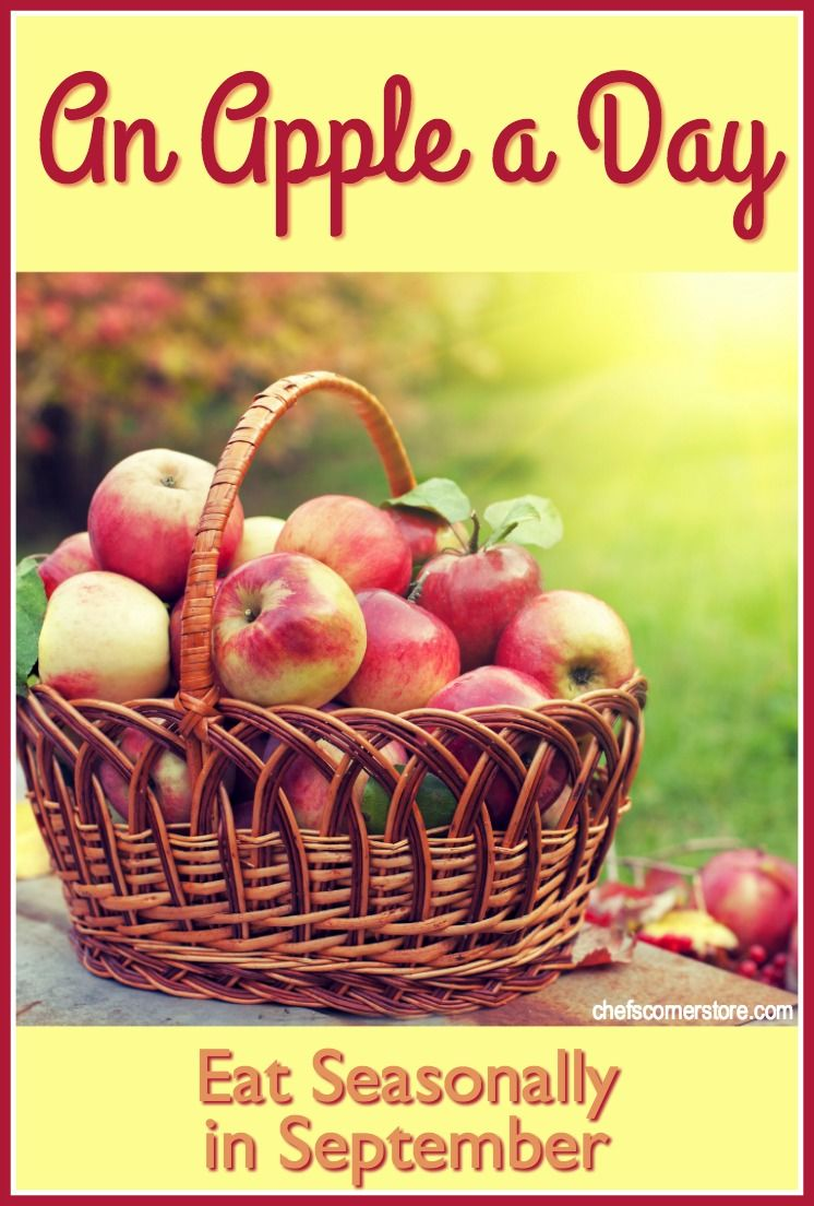 We've challenged ourselves to eat an apple a day in September. It will be easy, thanks to all the delicious apple varieties and recipes we found. Join us!