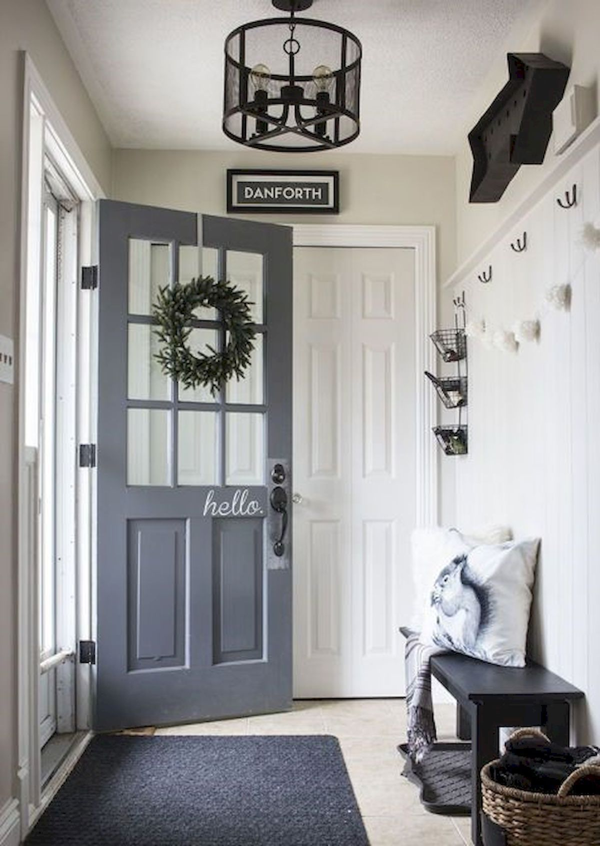 70 Best Modern Farmhouse Front Door Entrance Design Ideas (51 | For ...