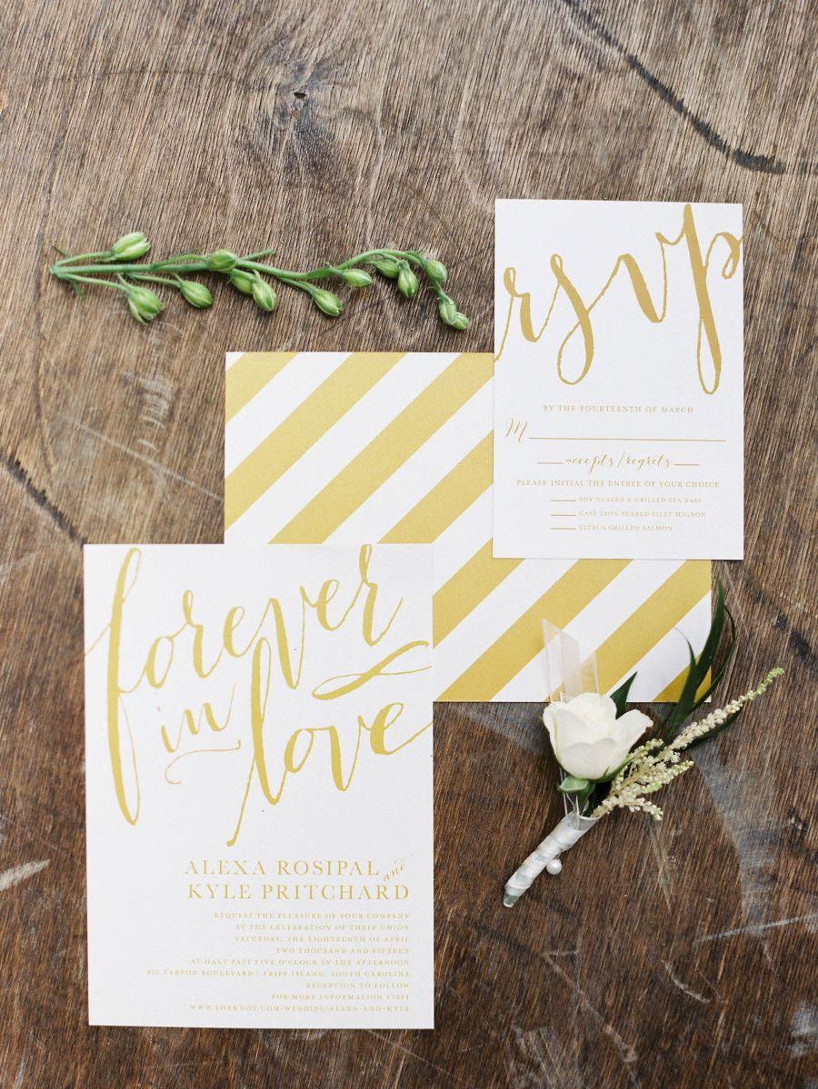 Invitations: Wedding Paper Divas - http://www.stylemepretty.com/portfolio/wedding-paper-divas Photography: Shannon Duggan Photography - http://www.stylemepretty.com/portfolio/shannon-duggan-photography   Read More on SMP: http://www.stylemepretty.com/2015/07/16/intimate-beachside-spring-wedding-on-fripp-island/