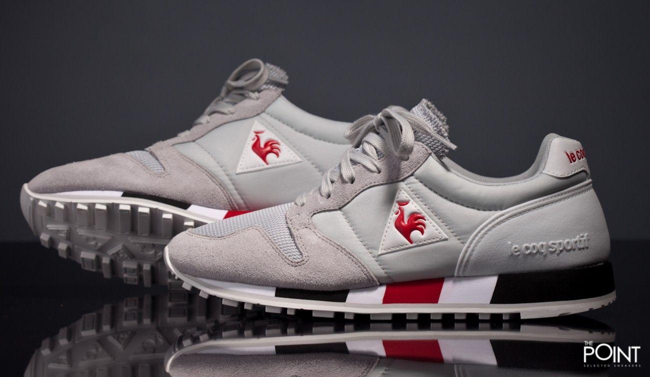 Zapatillas Le Coq Sportif Omega Gris Rojo, ya puedes #compraronline en  nuestra #sneakershop