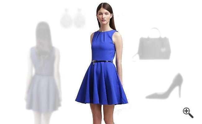 Blaues Cocktailkleid + 3 Blaue Outfits für Helen: http://www ...