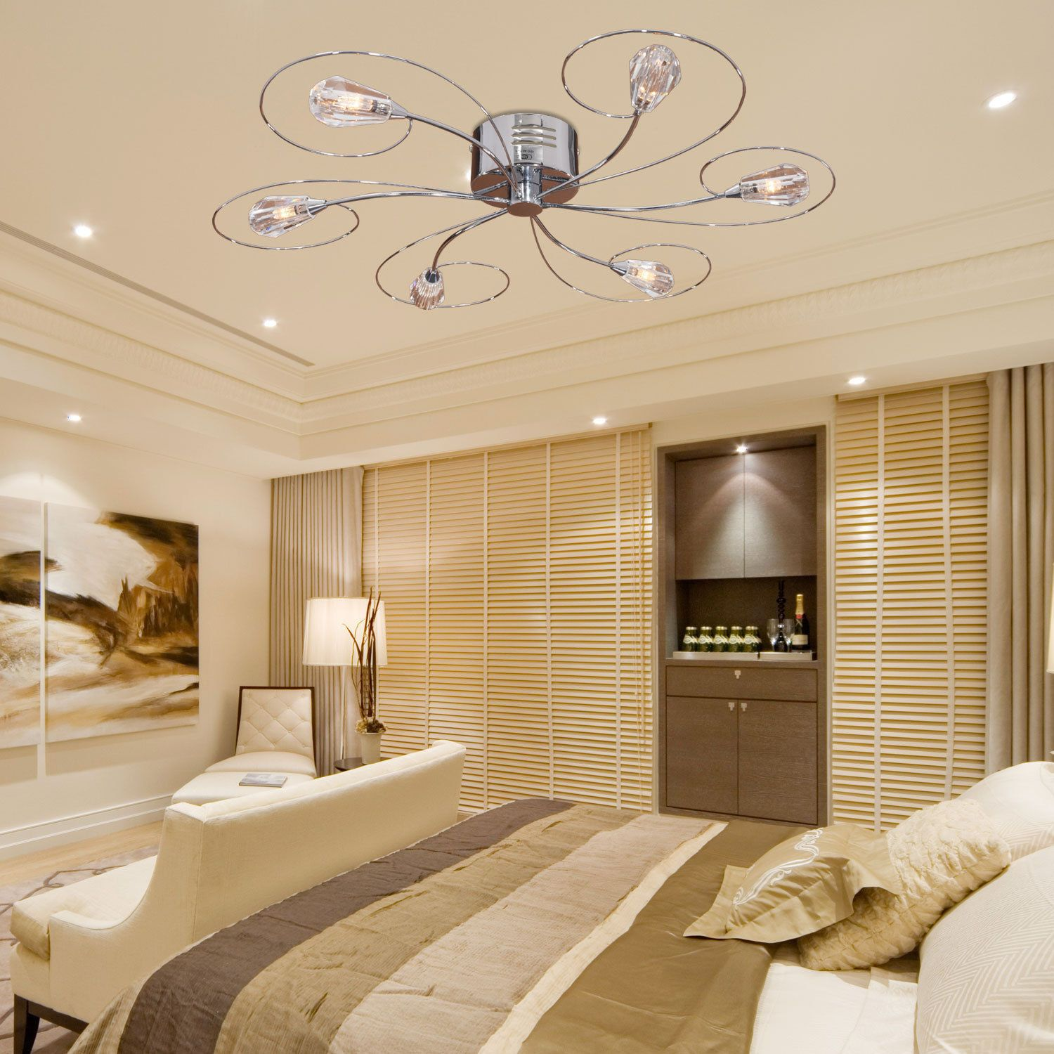 Unique Bright Chandelier Ceiling Fan for Ceiling Deocrating