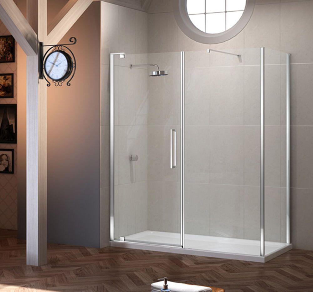Merlyn Series 10 Pivot Door Inline Panel 10mm Glass Shower Tray Enclosure New Ebay Shower Doors Corner Shower Enclosures New Bathroom Ideas