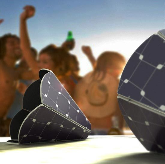 Solar powered speakers
