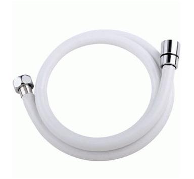 White Pvc Shower Hose Replacement 1 25m 1 5m Long 1 2 Plastic Coated Shower Hose For Bath Taps Flex Plumbing Hose Shower Hose Pvc Shower Shower