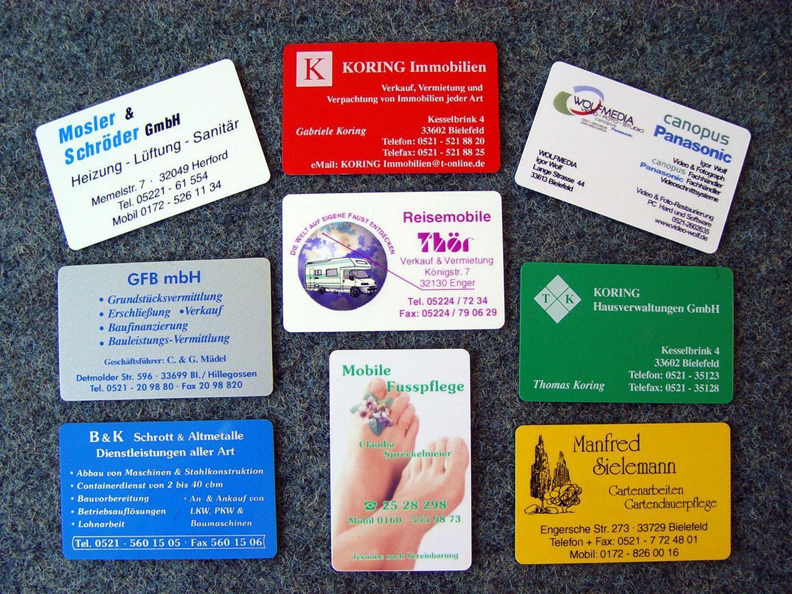 Visitenkarten Drucken Graz