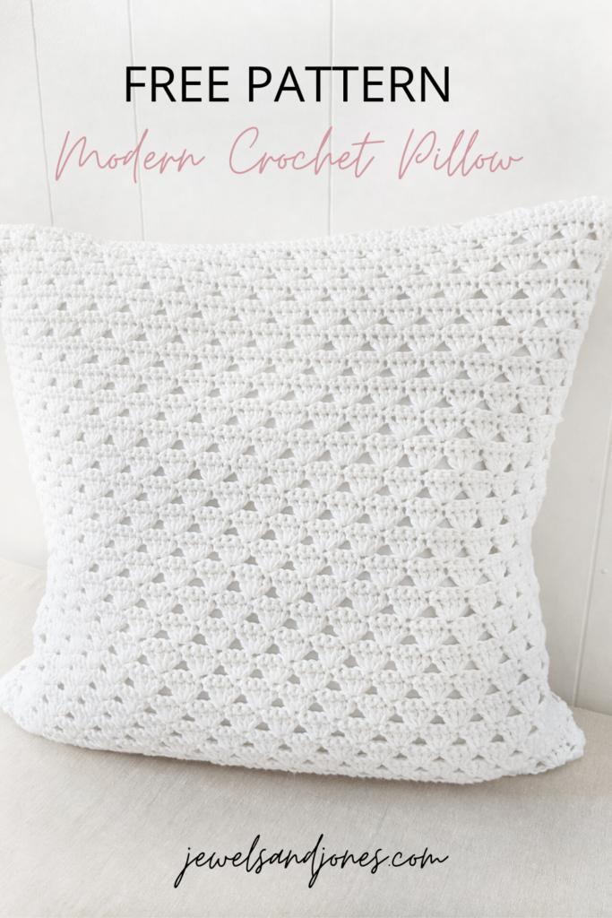 Modern Crochet Pillow - Free Crochet Pattern - Jewels and Jones