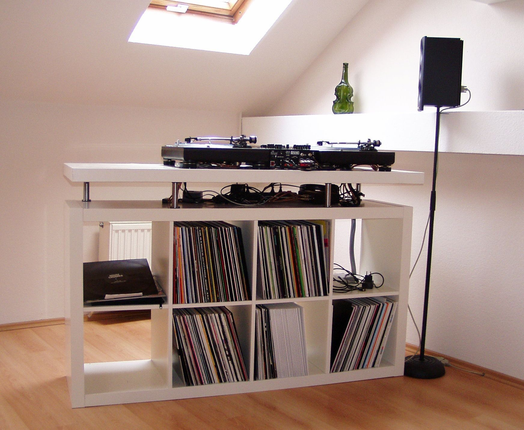 pin by janine montgomery on music setup in 2019 home studio music dj table vinyl record storage