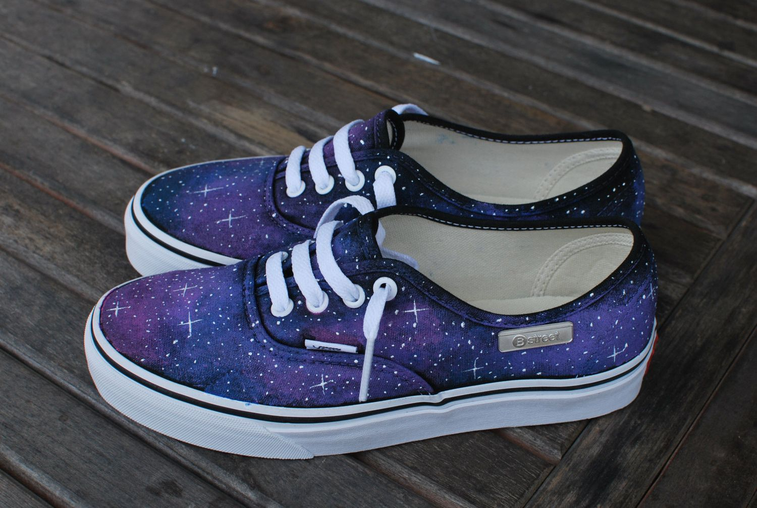 These one of a kind hand painted Authentic Vans shoes