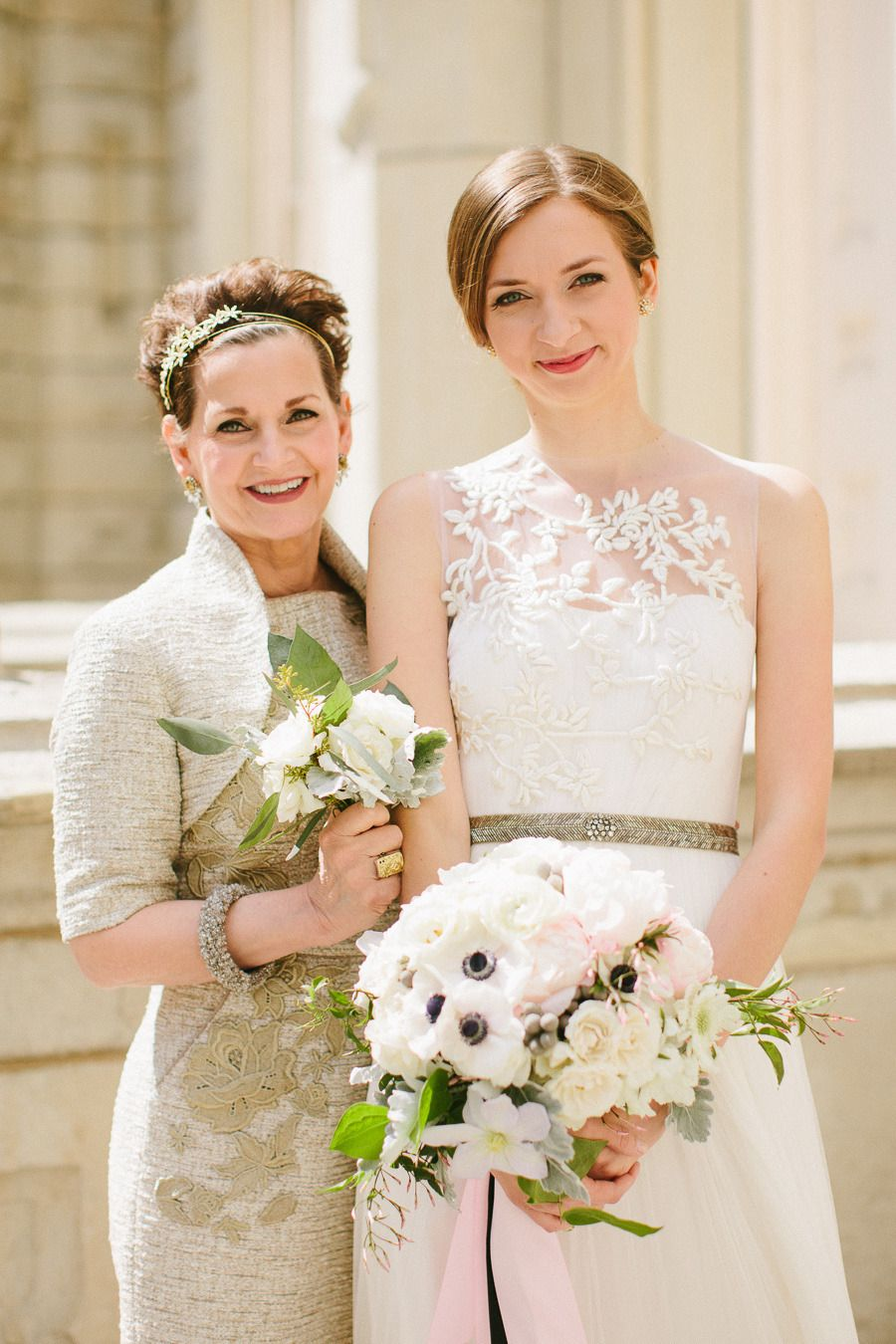 mother + daughter, both in BHLDN | via: style me pretty