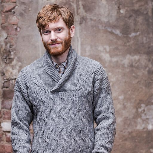 With a shawl collar and swirling cable design, Jackdaw is a sophisticated sweater with plenty of visual interest. Dropped shoulders...