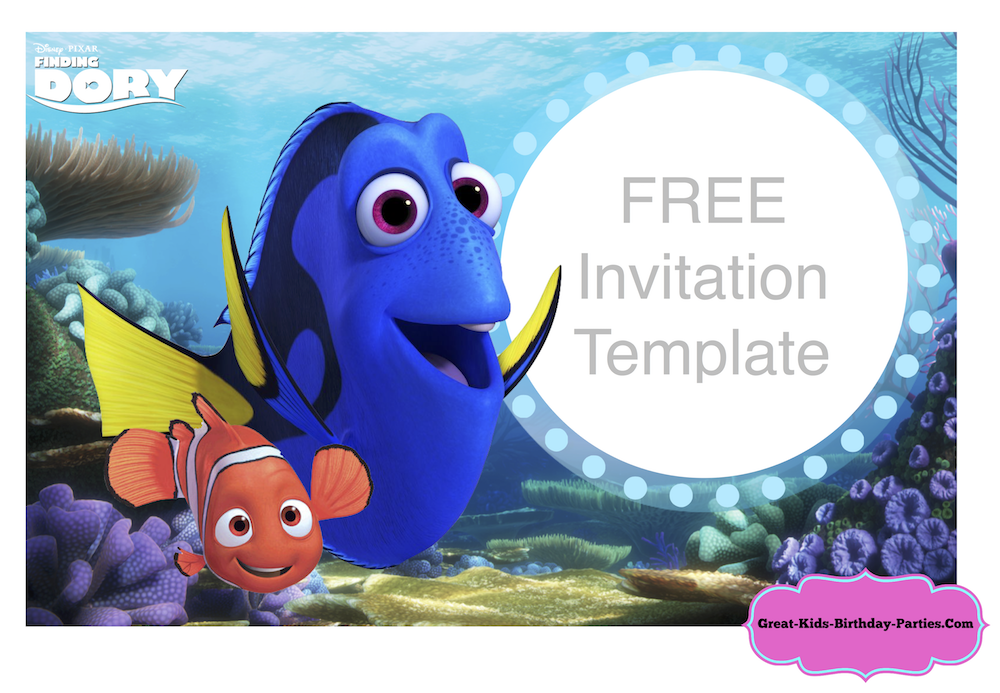 Finding dory party diy disney crafts pinterest party for Nemo cake template