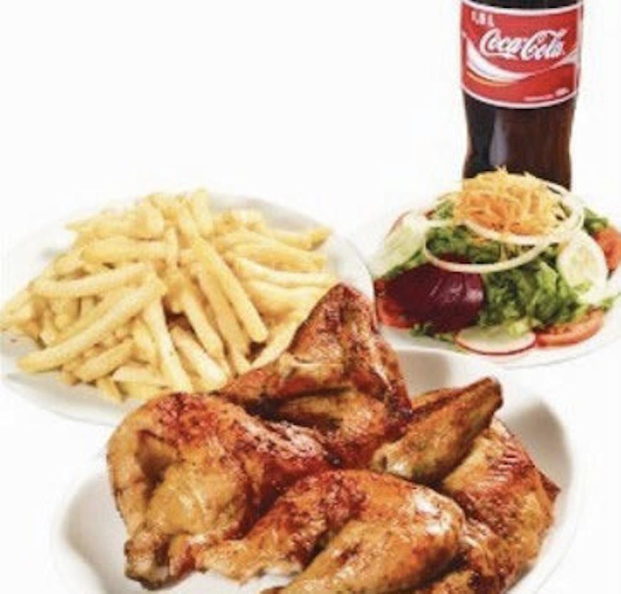 Pollo A La Brasa Papas Fritas Y Ensalada Peruvian Recipes Food Chicken
