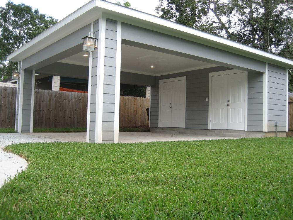 Remodeling Ideas For Your Garage Carport With Storage Carport