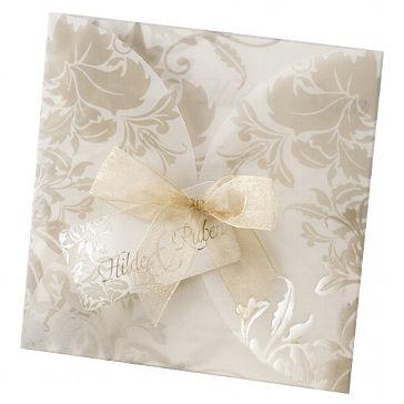 Hochzeitseinladungskarten   Einladungskarte U201cLolau201c Mit Verspielten Ranken    Weddix