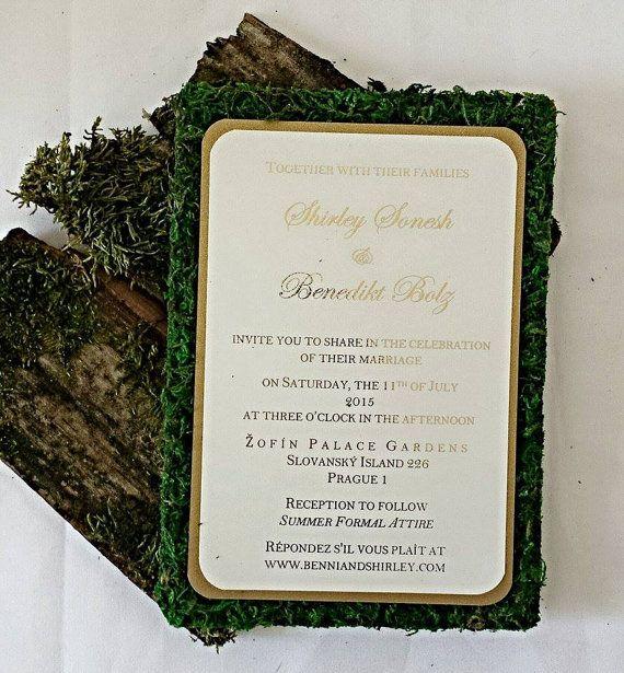 Outdoor Wedding Invitations: Garden Themed Moss Wedding