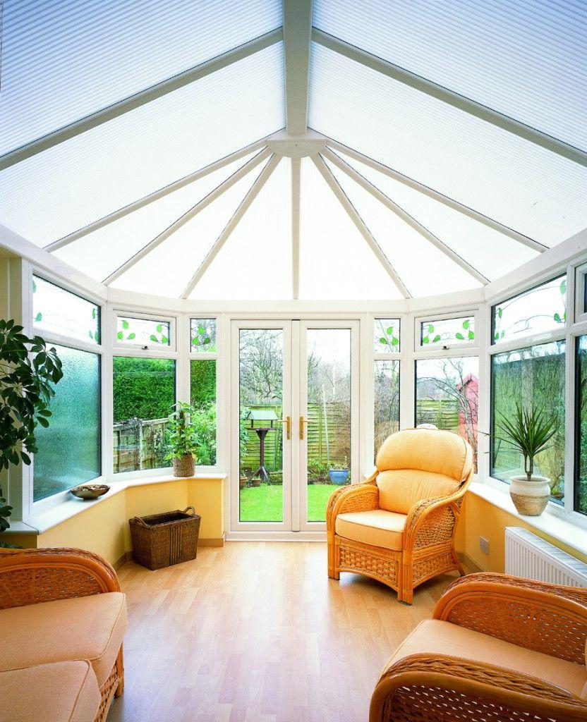 Conservatories concept windows and conservatories essex - Victorian Conservatory With Bright Interior Hardwood Floors Rattan Furniture