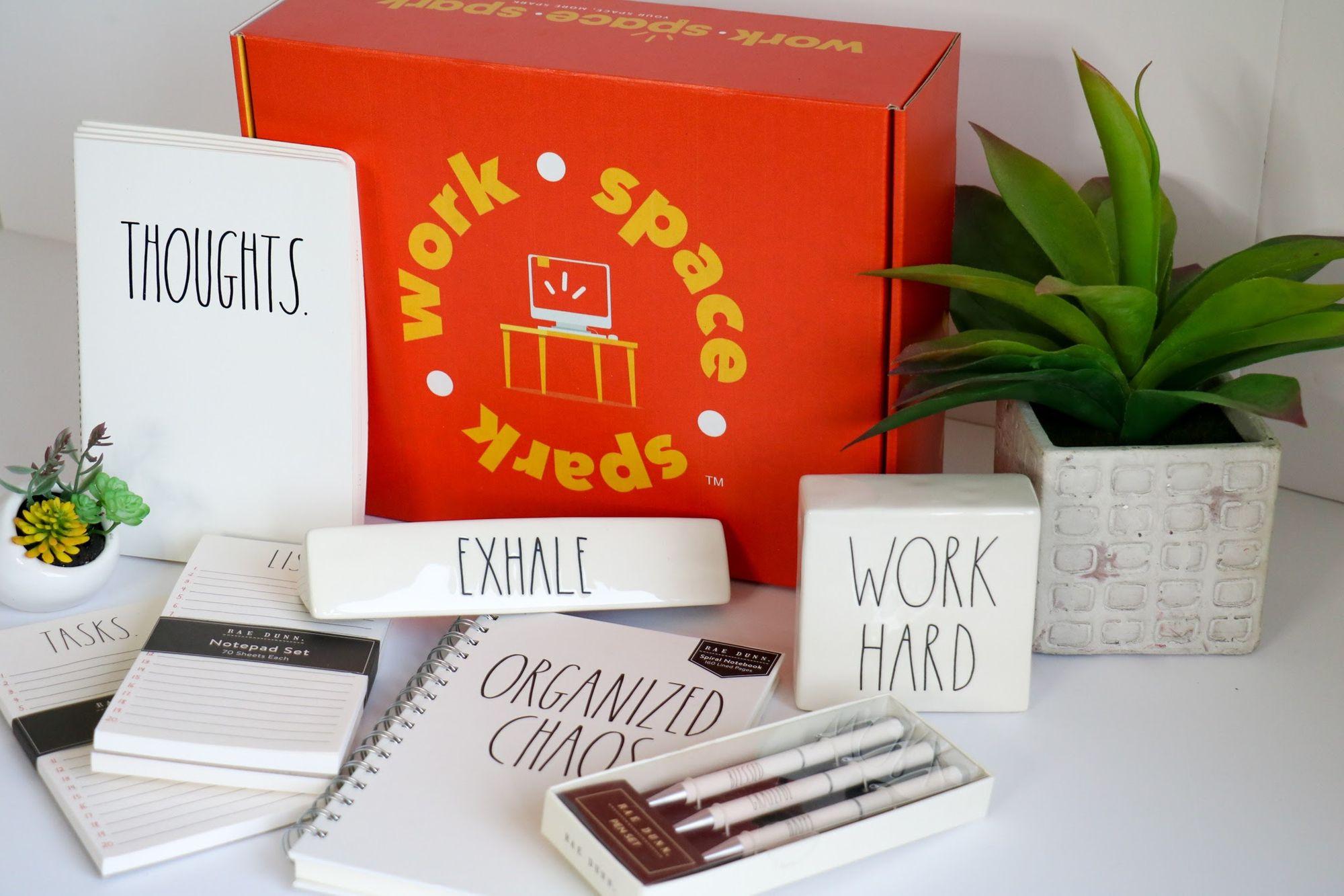 Ready. Set. Go.  Rae Dunn ❤️office decor will help you keep the right mindset!   #workspacespark#officedecor #subscriptionbox #raedunn