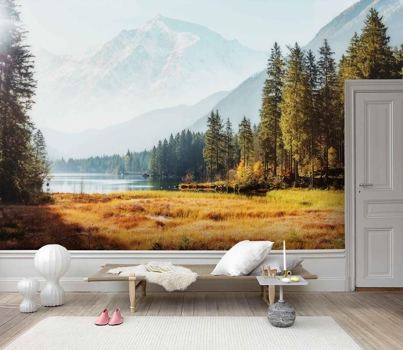 3d Spectacular Autumn Scenery Wallpaper Removable Self Adhesive Wallpaper Wall Mural Vintage Art Peel And Stick In 2020 Scenery Wallpaper Autumn Scenery Wall Murals