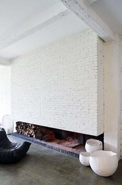 long-white-brick-fireplace