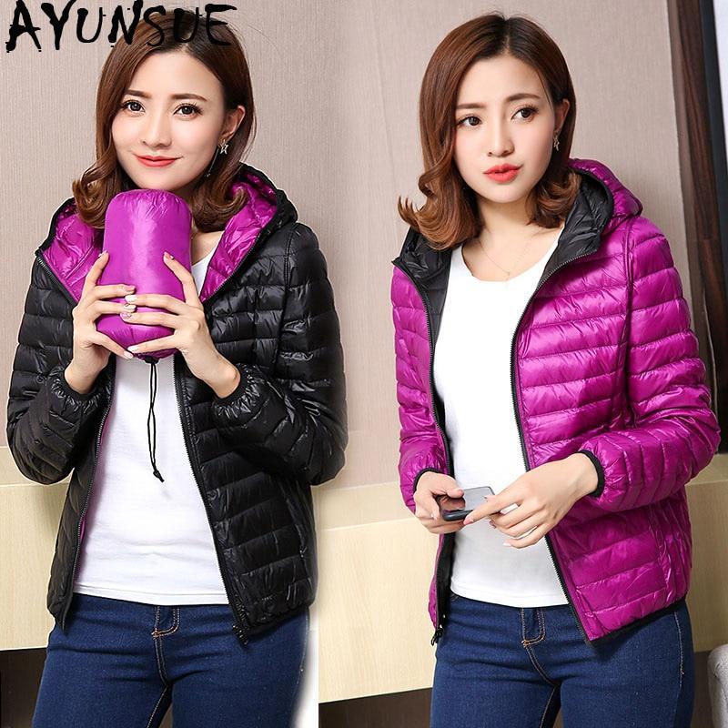 539bb3369 AYUNSUE Women's Jackets Ultra Light Down Jacket Women 2018 New ...