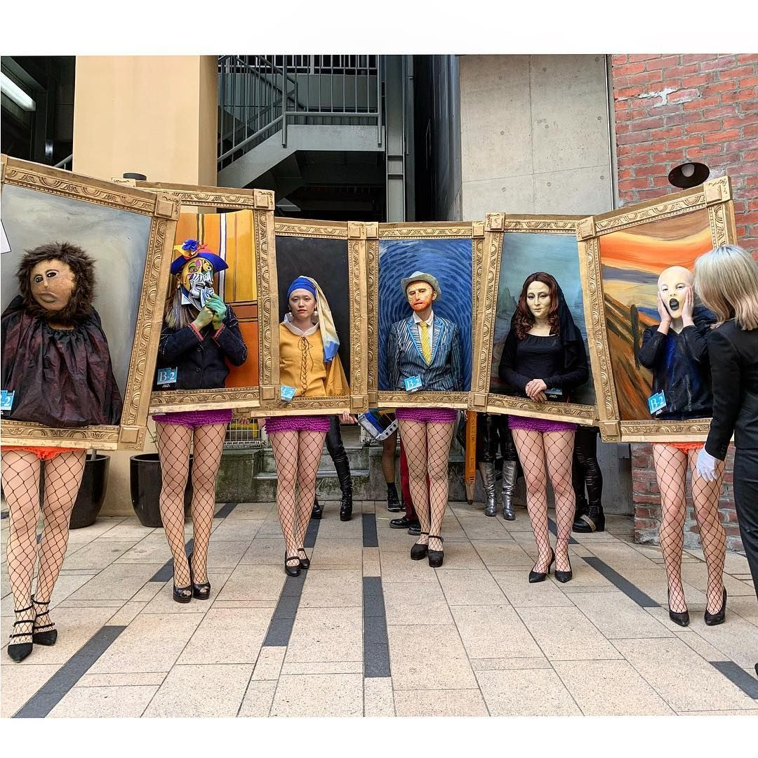 These Six Art Students Dressed Up As Iconic Works Of Art And Won First Prize