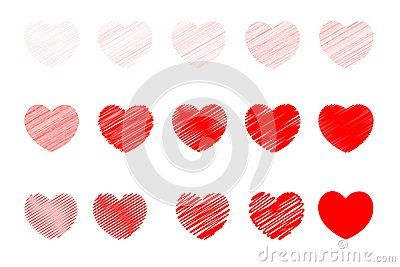 valentine and love icons for valentine card and love card red in