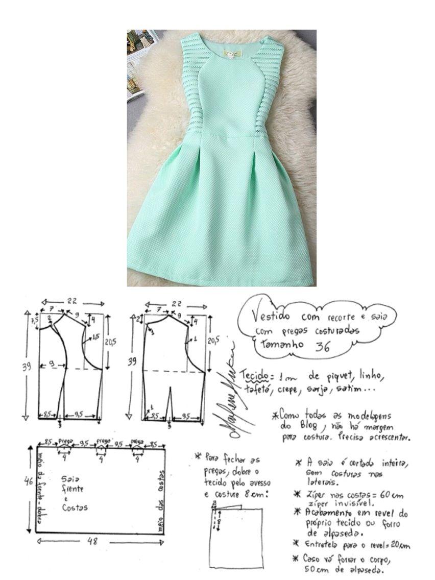 Straight princess cut Sweet dress pattern | Patternmaking ...