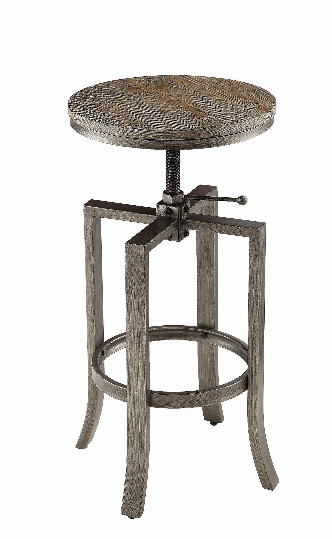 Walnut Adjule Bar Stool Coaster Fine Furniture