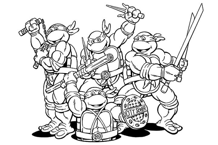 Coloring Online Ninja Turtle : Teenage mutant ninja turtles coloring pages colouring