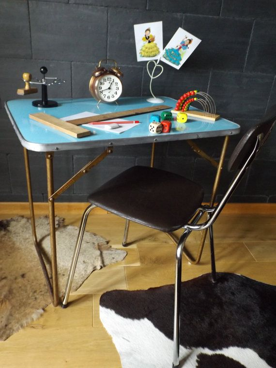 Lafuma Vintage Table Small Table Formica And Old Metal