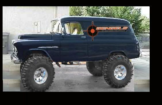 55 Chevy Panel Crawler Or Rat Rod Ofn Forums Chevy Trucks 55
