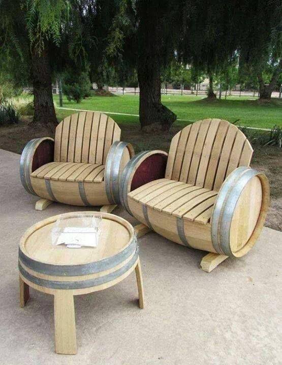 Beer Barrel Chairs - Restaurant Interior Design Drawing •