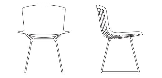 Bertoia Side Chair with Full Cover | Knoll