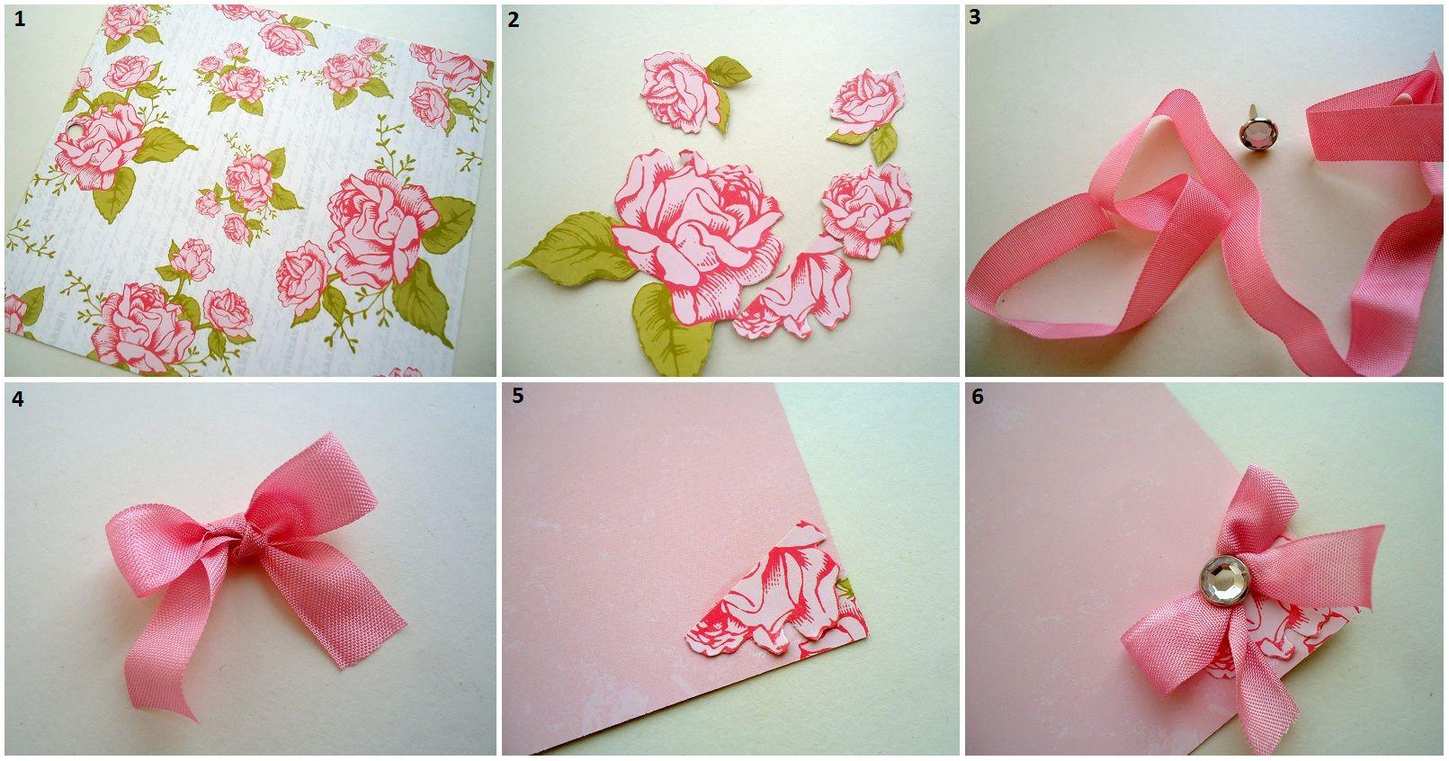 цветочек из бумаги своими руками для открытки какие
