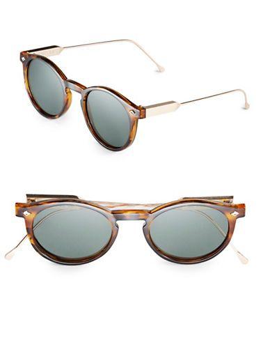032b8467ab Spitfire 54MM Flex Round Sunglasses Women s Grey Tortoise Shell Sunglasses