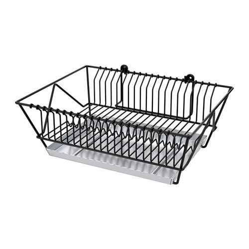 Ikea Fintorp Black Galvanized Dish Drainer Kitchen