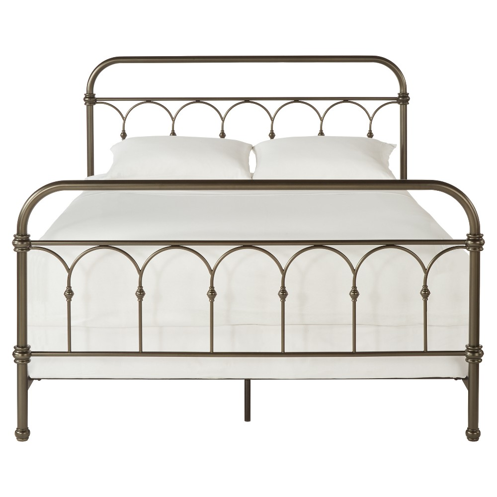 Caledonia Metal Bed King Bronzed Black - Inspire Q