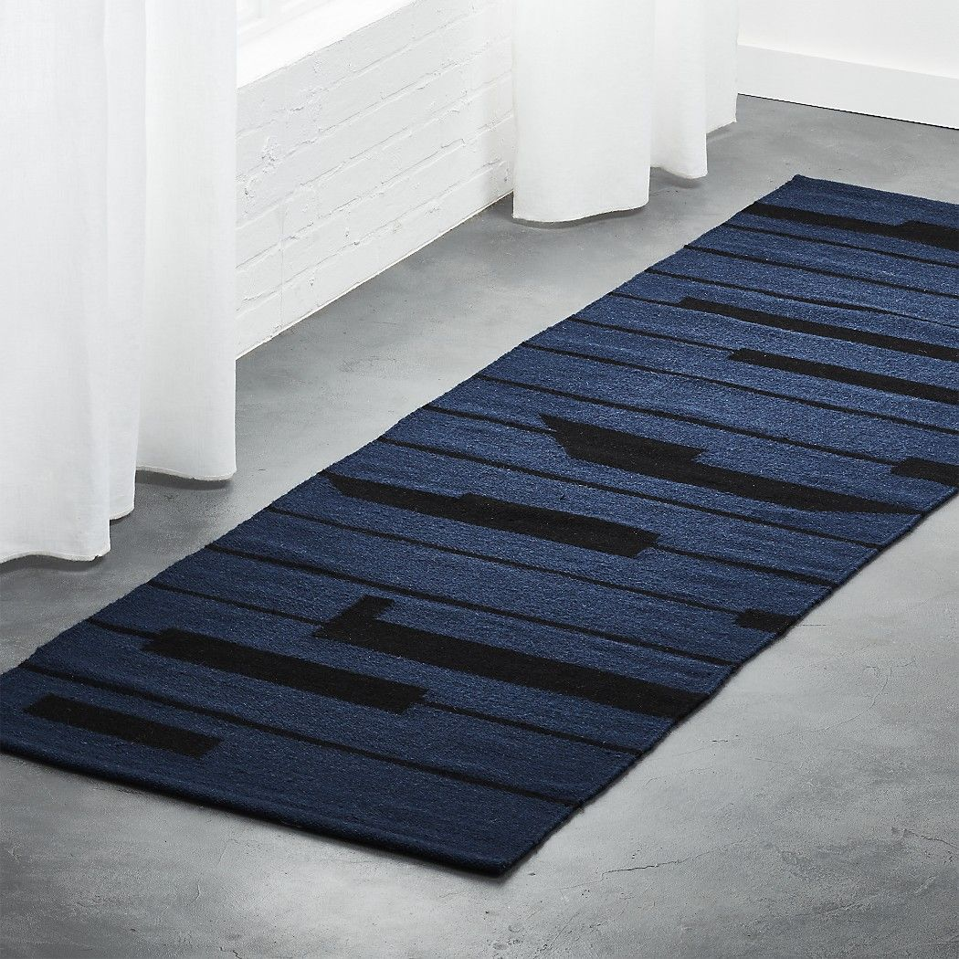 Rise Blue And Black Runner 2 5 X8 Living Sitting Rooms
