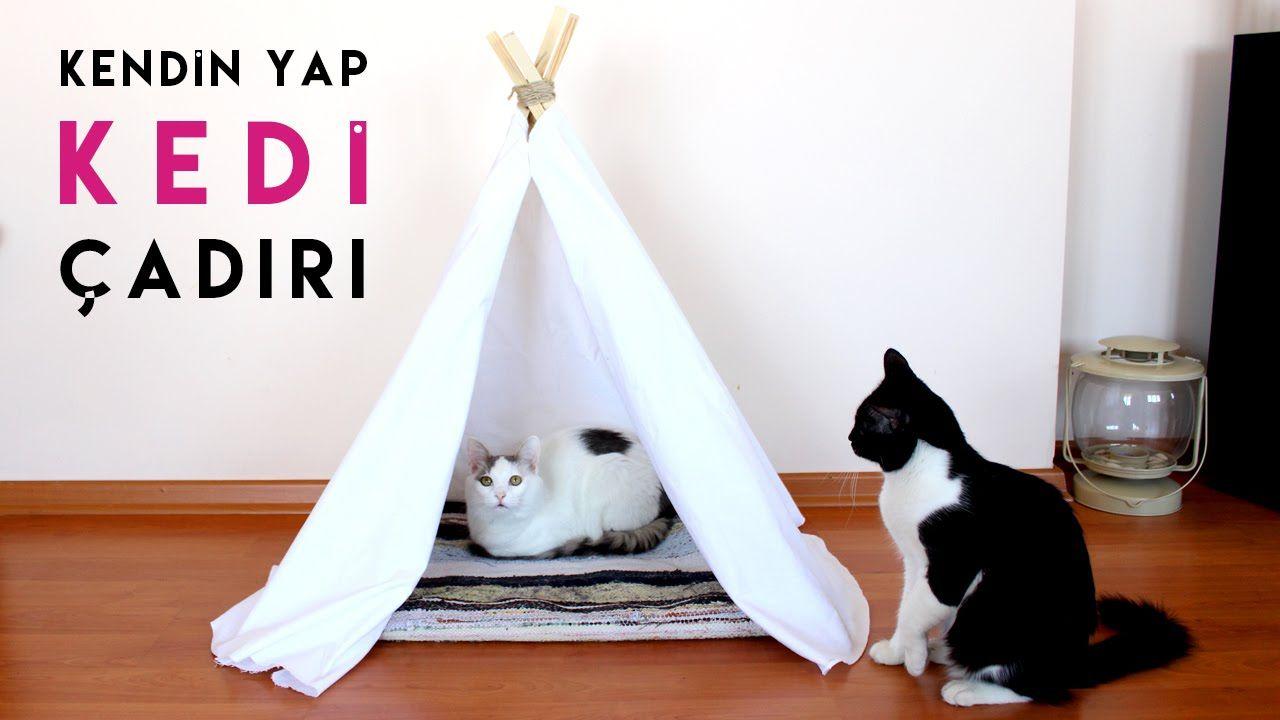 Kedi Evi Yapımı | Dekoratif Kızılderili Çadırı Nasıl Yapılır? | Kendin Y...