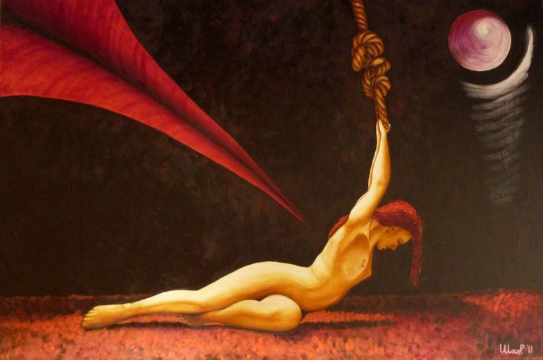 la spada e la corda/the sword and the rope - Oil on canvas - 31.5 x 47.2 x 0.8 in