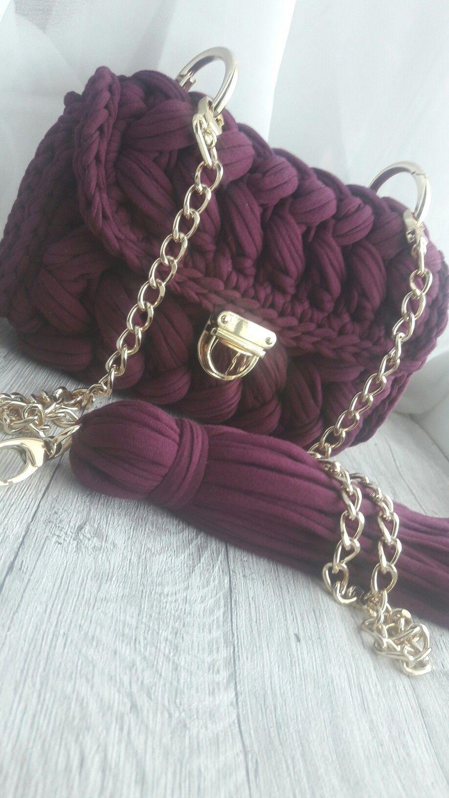 трикотажная сумка зефирка мои работы вязание вязание крючком и